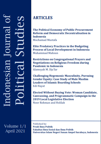 View Vol. 1 No. 1 (2021): Indonesian Journal of Political Studies